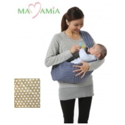 MaMamia_Baby Sling_brown dot